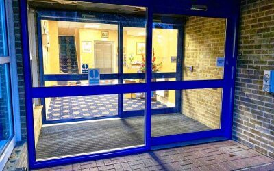 NG Automatics Transform Hill House Care Home's Door Entrance